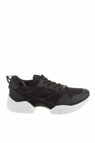 Мъжки обувки Zara Man, Размер 42, Цвят Черен, Текстил, еко кожа, Цена 53,40лв.