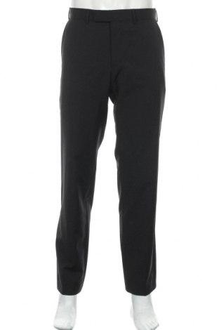 Pánské kalhoty  Hugo Boss, Velikost M, Barva Černá, 70% vlna, 30% polyester, Cena  1377,00Kč