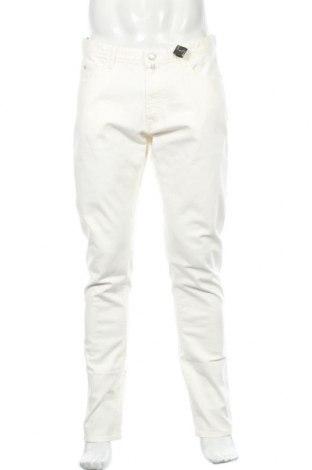 Pantaloni de bărbați Massimo Dutti, Mărime L, Culoare Ecru, 99% bumbac, 1% elastan, Preț 103,98 Lei
