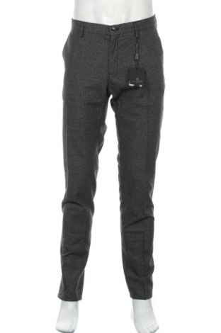 Мъжки панталон Massimo Dutti, Размер L, Цвят Сив, 86% памук, 10% вълна, 3% полиамид, 1% еластан, Цена 33,66лв.