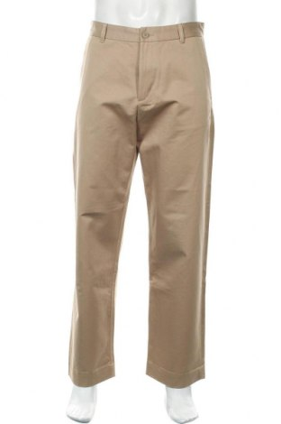 Мъжки панталон Mtwtfss Weekday, Размер M, Цвят Бежов, Памук, Цена 18,90лв.