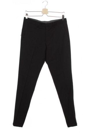 Мъжки панталон S.Oliver, Размер S, Цвят Черен, 85% полиестер, 12% вискоза, 3% еластан, Цена 72,00лв.