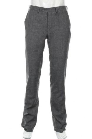 Pantaloni de bărbați T.M.Lewin, Mărime L, Culoare Gri, 50% lână, 50% poliester, Preț 43,11 Lei
