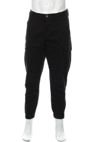 Мъжки панталон Zara, Размер M, Цвят Черен, 98% памук, 2% еластан, Цена 55,00лв.