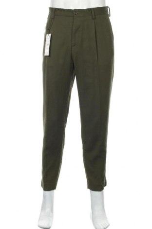 Pánské kalhoty  Zara, Velikost M, Barva Zelená, 76% viskóza, 22% bavlna, 2% elastan, Cena  489,00Kč