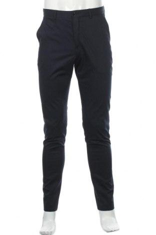 Мъжки панталон Zara, Размер S, Цвят Син, 55% вискоза, 42% полиестер, 3% еластан, Цена 49,00лв.