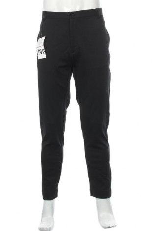 Pantaloni de bărbați Zara, Mărime L, Culoare Negru, 76% poliester, 24% elastan, Preț 86,84 Lei