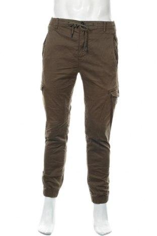 Мъжки панталон Zara, Размер S, Цвят Зелен, 77% памук, 21% полиестер, 2% еластан, Цена 49,00лв.