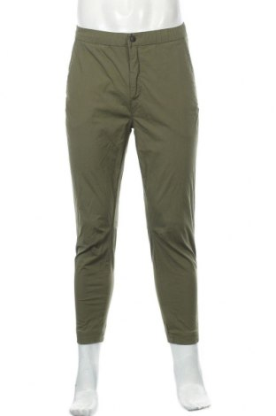 Мъжки панталон Zara, Размер M, Цвят Зелен, 97% памук, 3% еластан, Цена 49,00лв.