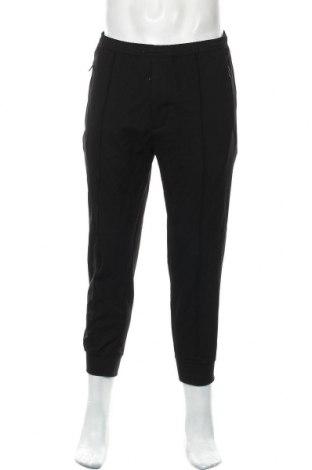 Мъжки панталон Zara, Размер M, Цвят Черен, 63% полиестер, 34% вискоза, 3% еластан, Цена 55,00лв.