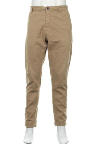 Pánské kalhoty  Zara, Velikost XL, Barva Béžová, 98% bavlna, 2% elastan, Cena  334,00Kč