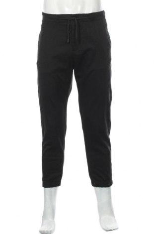 Мъжки панталон Zara, Размер L, Цвят Черен, 64% полиестер, 33% вискоза, 3% еластан, Цена 49,00лв.