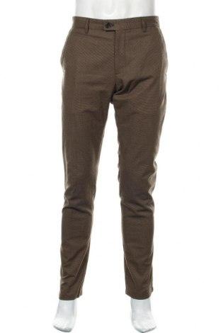 Ανδρικό παντελόνι Zara Man, Μέγεθος L, Χρώμα Καφέ, 47% βαμβάκι, 34% πολυεστέρας, 18% βισκόζη, 1% ελαστάνη, Τιμή 20,98€