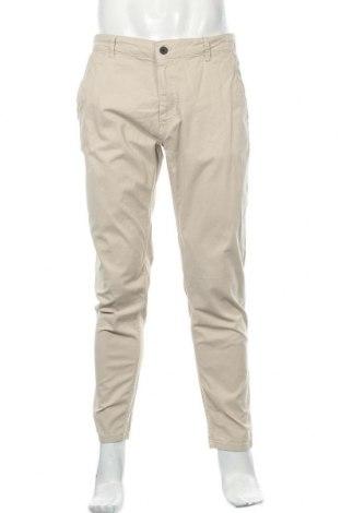 Мъжки панталон Zara Man, Размер L, Цвят Бежов, 98% памук, 2% еластан, Цена 49,00лв.