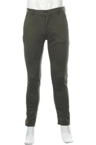 Мъжки панталон Zara Man, Размер S, Цвят Зелен, 98% памук, 2% еластан, Цена 49,00лв.