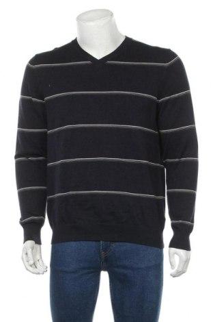 Мъжки пуловер Alvo, Размер M, Цвят Син, 84% памук, 16% еластан, Цена 10,96лв.