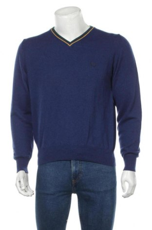 Ανδρικό πουλόβερ Fred Perry, Μέγεθος S, Χρώμα Μπλέ, Μαλλί, Τιμή 17,15€