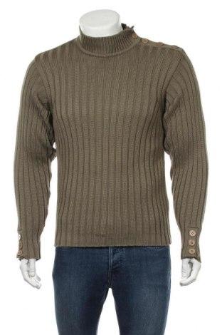 Мъжки пуловер Mishumo, Размер M, Цвят Зелен, 50% памук, 50% акрил, Цена 15,50лв.