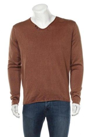 Pánský svetr  Premium By Jack & Jones, Velikost L, Barva Hnědá, Bavlna, Cena  612,00Kč