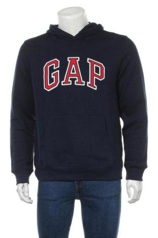 Мъжки суичър Gap, Размер M, Цвят Син, 77% памук, 23% полиестер, Цена 45,82лв.