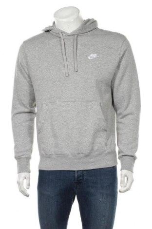 Мъжки суичър Nike, Размер S, Цвят Сив, 80% памук, 20% полиестер, Цена 54,50лв.
