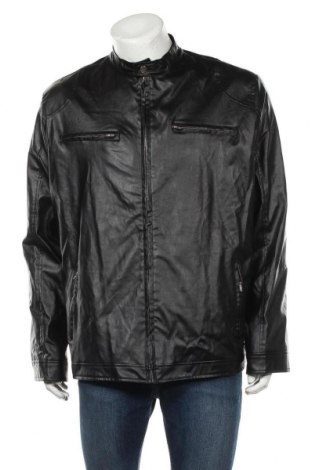 Ανδρικό δερμάτινο μπουφάν, Μέγεθος XXL, Χρώμα Μαύρο, Δερματίνη, Τιμή 25,92€