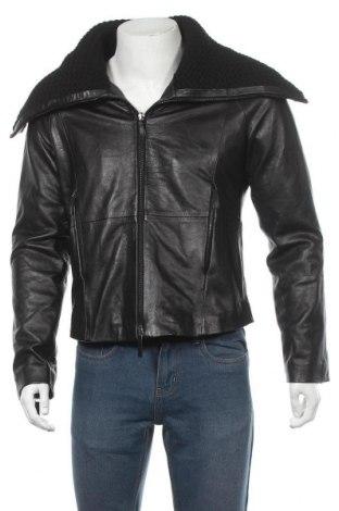 Pánská kožená bunda  Emporio Armani, Velikost L, Barva Černá, Pravá kůže, Cena  3469,00Kč