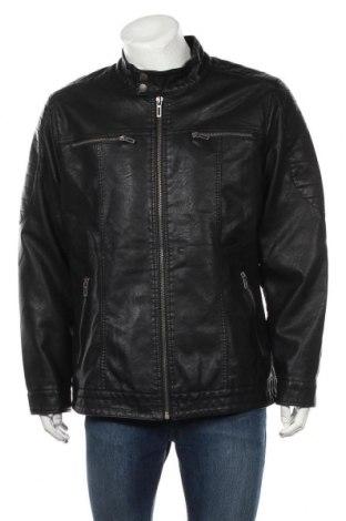 Ανδρικό δερμάτινο μπουφάν Identic, Μέγεθος XL, Χρώμα Μαύρο, Δερματίνη, Τιμή 25,92€