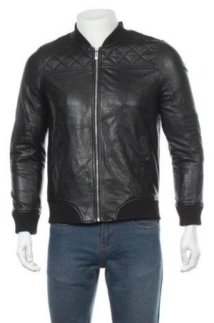 Pánská kožená bunda  Review, Velikost S, Barva Černá, Eko kůže, Cena  435,00Kč