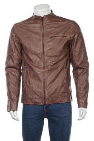 Pánská kožená bunda  Yd., Velikost M, Barva Hnědá, Eko kůže, Cena  637,00Kč