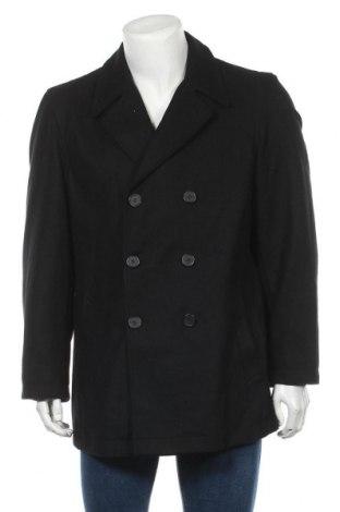 Мъжко палто, Размер L, Цвят Черен, 60% вълна, 30% полиестер, 10% вискоза, Цена 19,16лв.