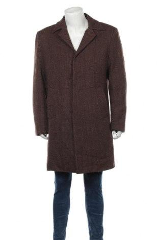 Pánský kabát  ! Solid, Velikost XL, Barva Hnědá, 40% vlna, 60% viskóza, Cena  603,00Kč