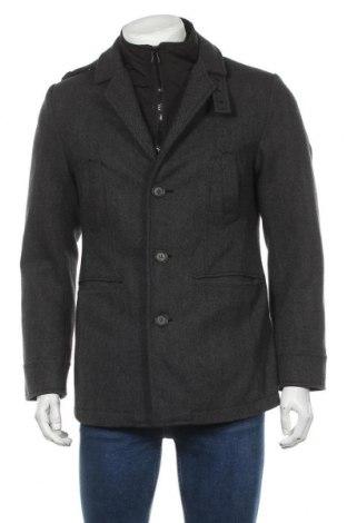 Мъжко палто Charles Vogele, Размер S, Цвят Черен, 52% вълна, 41% полиестер, 3% полиамид, 2% вискоза, 2% акрил, Цена 39,85лв.