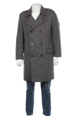 Ανδρικά παλτό Hugo Boss, Μέγεθος L, Χρώμα Γκρί, 80% μαλλί, 20% πολυαμίδη, Τιμή 72,48€