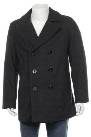 Мъжко палто Lands' End, Размер M, Цвят Сив, 54% вълна, 40% полиестер, 6% други тъкани, Цена 43,68лв.