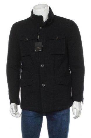 Мъжко палто Massimo Dutti, Размер M, Цвят Син, Вълна, Цена 92,12лв.