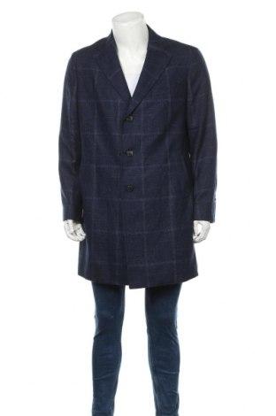 Мъжко палто Massimo Dutti, Размер XL, Цвят Син, 78% вълна, 13% полиамид, 9% лен, Цена 80,92лв.