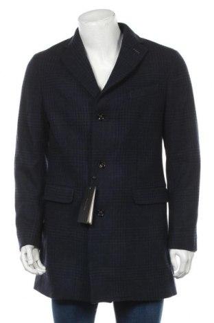 Pánský kabát  Massimo Dutti, Velikost L, Barva Modrá, Vlna, Cena  3576,00Kč