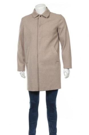 Мъжко палто Topman, Размер S, Цвят Бежов, 89% полиестер, 11% вискоза, Цена 64,12лв.