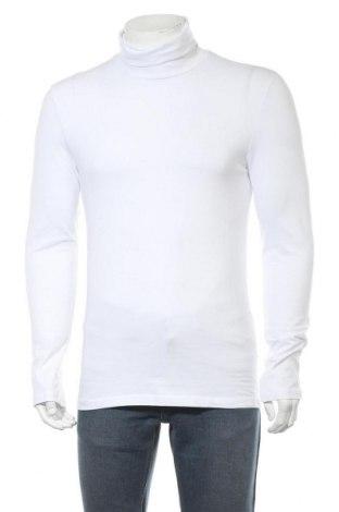 Мъжко поло Pier One, Размер L, Цвят Бял, 95% памук, 5% еластан, Цена 26,68лв.