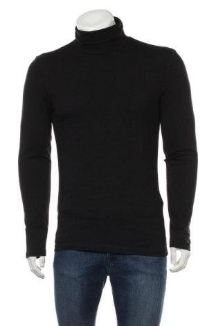 Мъжко поло Pier One, Размер L, Цвят Черен, 95% памук, 5% еластан, Цена 27,84лв.