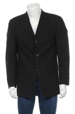 Мъжко сако Carl Gross, Размер M, Цвят Черен, 96% вълна, 4% еластан, Цена 12,08лв.