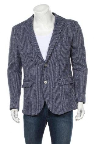 Sacou de bărbați Massimo Dutti, Mărime XL, Culoare Albastru, 89% bumbac, 11%acril, Preț 451,97 Lei