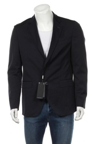 Sacou de bărbați Massimo Dutti, Mărime L, Culoare Albastru, 99% lână, 1% elastan, Preț 550,66 Lei