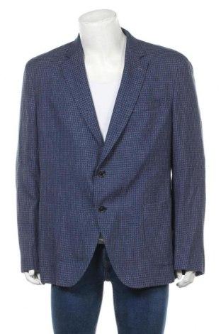 Sacou de bărbați Massimo Dutti, Mărime XXL, Culoare Albastru, 75% lână, 25% in, Preț 432,23 Lei