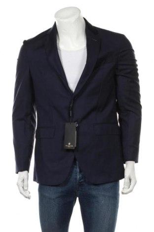 Sacou de bărbați Massimo Dutti, Mărime L, Culoare Albastru, 100% lână, Preț 530,92 Lei