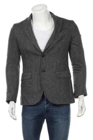 Мъжко сако Massimo Dutti, Размер M, Цвят Сив, 100% вълна, Цена 64,75лв.