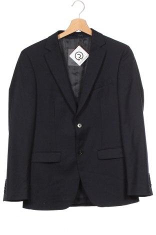 Pánské sako  S.Oliver, Velikost S, Barva Modrá, 50% polyester, 50% vlna, Cena  500,00Kč