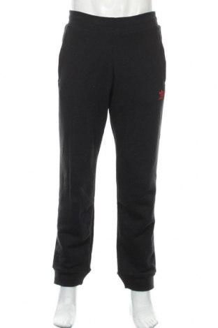 Pantaloni trening de bărbați Adidas Originals, Mărime L, Culoare Negru, 95% bumbac, 5% elastan, Preț 219,57 Lei
