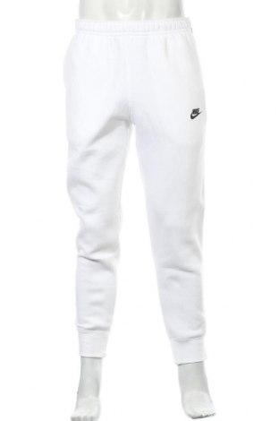 Мъжко спортно долнище Nike, Размер M, Цвят Бял, 80% памук, 20% полиестер, Цена 47,17лв.